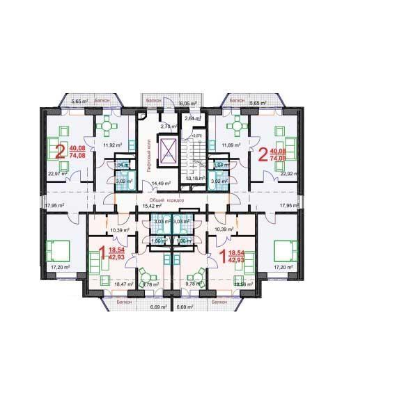 Типовой жилой дом серии c-220 планировки квартир, фото.