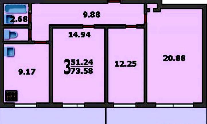 Типовой жилой дом серии башня вулыха планировки квартир, фот.