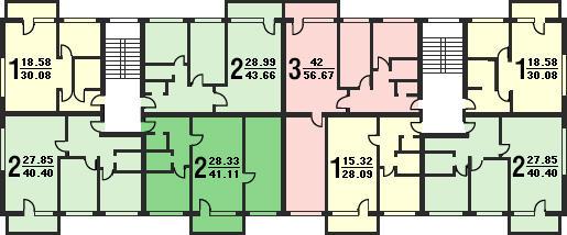 Типовой жилой дом серии 1-511 планировки квартир, фото.