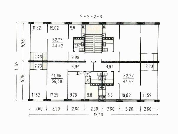 Типовой жилой дом серии 1-464 планировки квартир, фото.