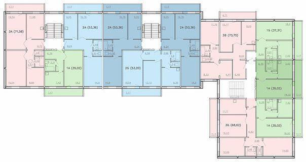 Типовой жилой дом серии 75 (111-75) планировки квартир, фото.