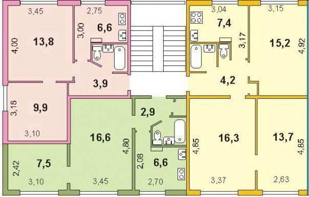 Типовой жилой дом серии 1-467 планировки квартир, фото.