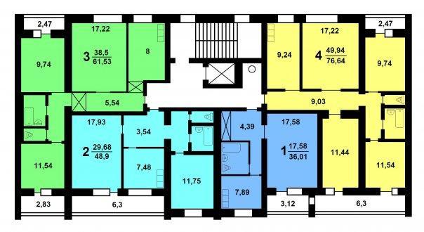 Типовой жилой дом серии 114-85 планировки квартир, фото.