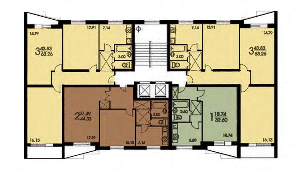 Типовой жилой дом серии ii-57 планировки квартир, фото.