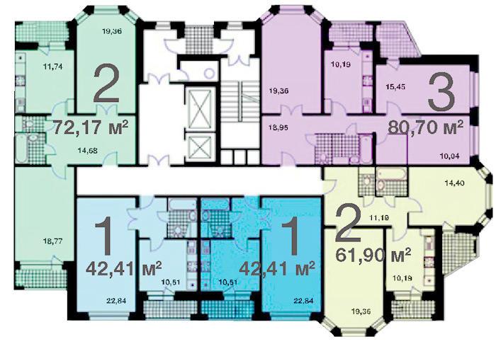 Типовой жилой дом серии и-1724 планировки квартир, фото.