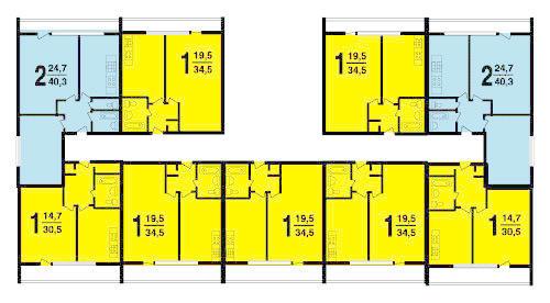 Типовой жилой дом серии ii-68 планировки квартир, фото.