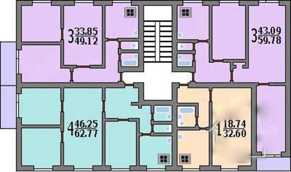 Типовой жилой дом серии ii-49-08м планировки квартир, фото.