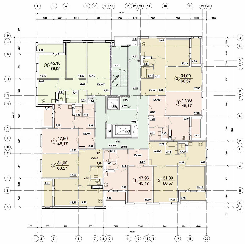 Типовой жилой дом серии м-111-90 планировки квартир, фото.