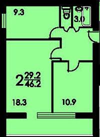 Типовой жилой дом серии ii-68-03 планировки квартир, фото.