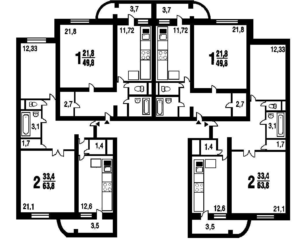 DOMRIA - Перепланировка трехкомнатной квартиры: 5
