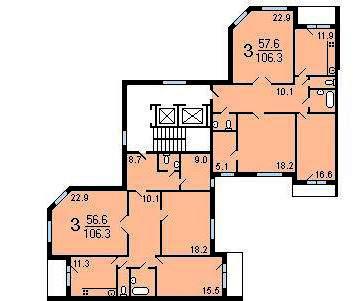 Типовой жилой дом серии п-55м планировки квартир, фото.