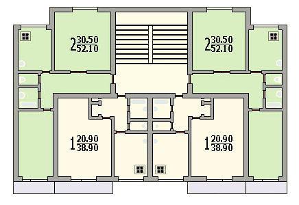 Планировки квартир / 16-22 этажные дома / планировка домов с.