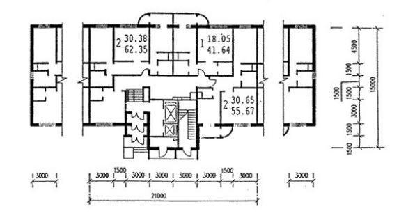 П-111м, варианты планировок квартир (отр.адм.) помогите опре.
