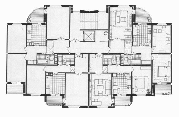 Типовой жилой дом серии 111-90 (90) планировки квартир, фото.