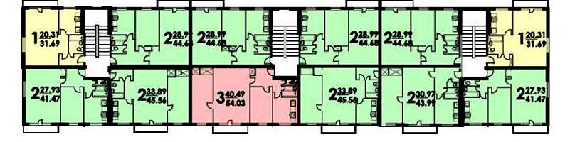 Типовой жилой дом серии 1-515/5 планировки квартир, фото.