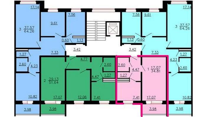 Перепланировка однокомнатной квартиры 50 кв м